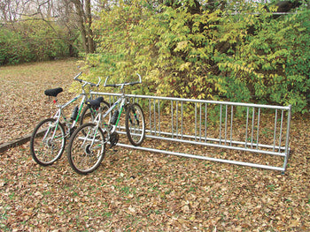 Double Entry Bicycle Rack - Permanent Holds 36 Bicycles