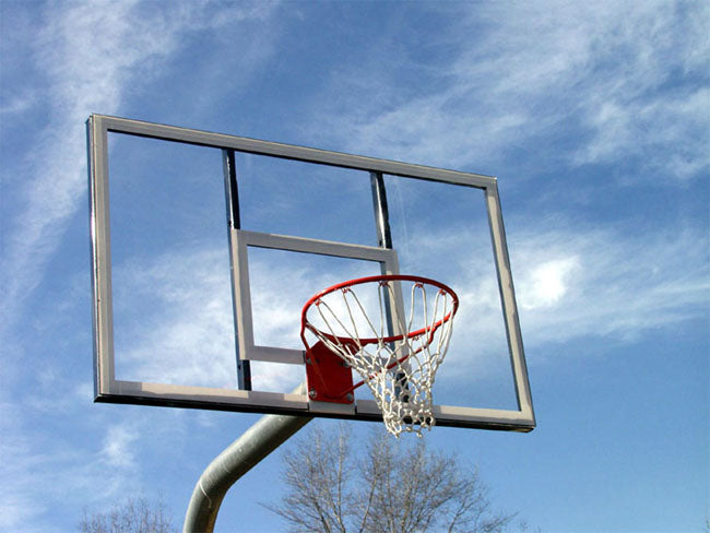 Heavy Duty Basketball Goal Bent Post, Acrylic Rectangle Backboard