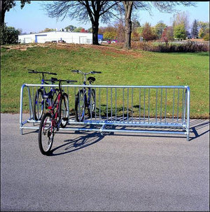 Traditional Double Sided Bicycle Rack Permanent -10 Bicycles