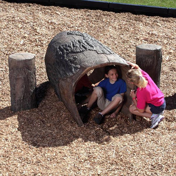 Nature Themed Log Tunnel 4 Foot Playground Climber