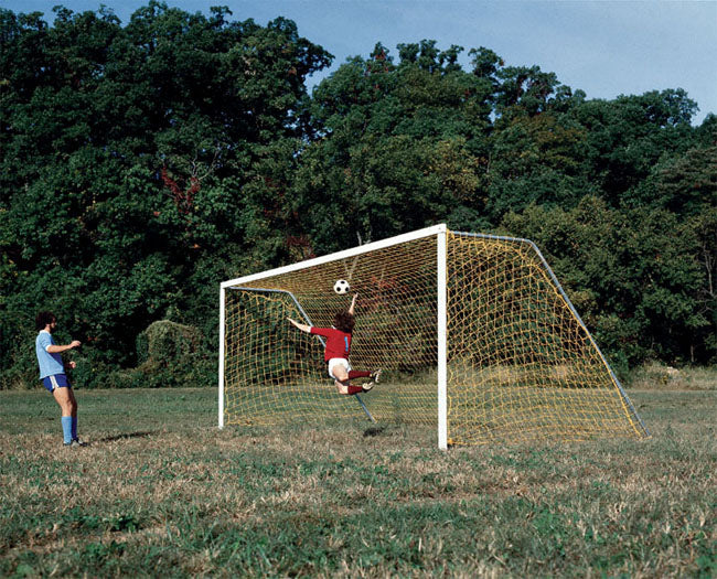 Set of 2 Steel Soccer Goals, Permanent or Portable