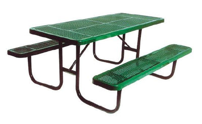 ADA Heavy Duty Perforated Picnic Table 8 Foot