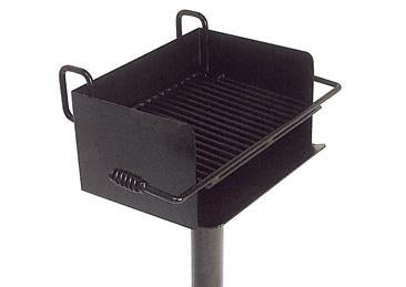 Rotating Pedestal Flip-back Grill with 300 Square Inch Cook Area
