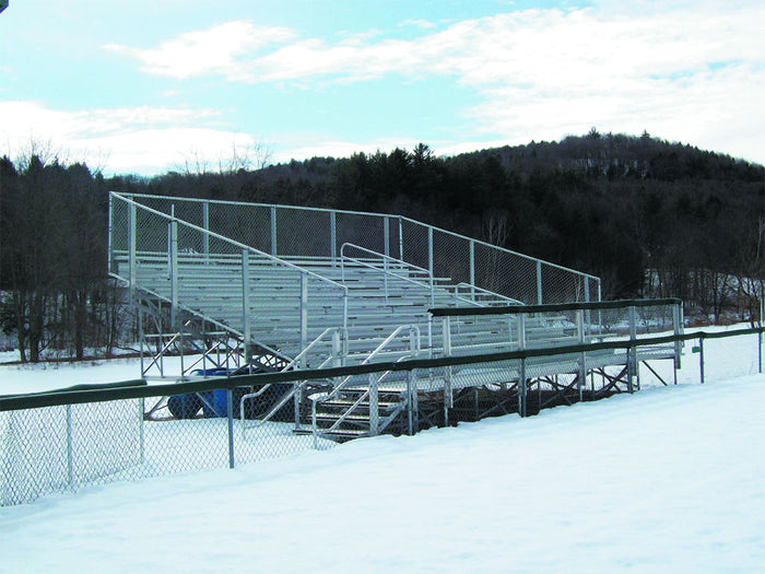 Elevated Bleacher Series 10-Row Bleacher (21, 27, and 33 Foot Options)