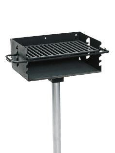 Heavy Duty Adjustable Flip-back Rotating Pedestal Grill with 280 Square Inch Cook Area
