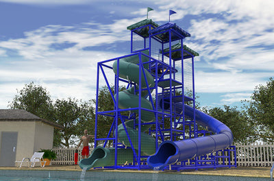 Coral Sea Commercial Water Slide