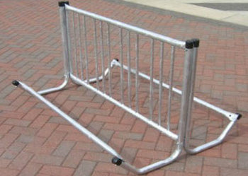 Double Entry Bicycle Rack - Holds 8 Bicycles