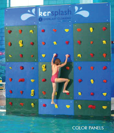 Kersplash Solid Color Pool Climbing Wall