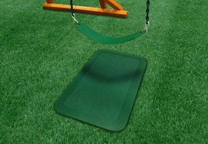 Rubber Ground Protection Wear Mat (Green)