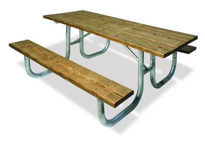 Natural Extra Heavy-Duty ADA Accessible Rectangular Table