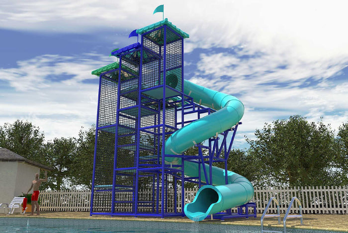 Custom Commercial Water Slide