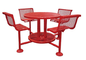 Ultra Bar Height Round Table With Seats 46 Inch - Perforated