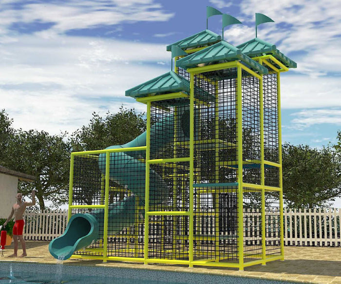 Commercial Water Slide 203 (8 x 8)