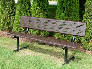 Standard Bench With Back 8 Foot Rolled Edge