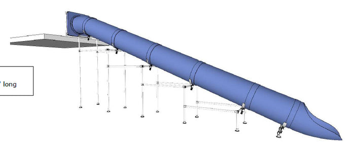 Commercial Water Slide Straight 10 Foot High 30 Foot Long