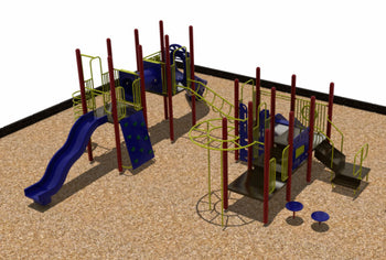 Triple Deck Playground System