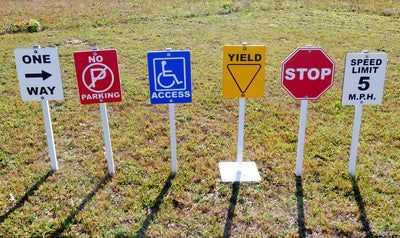 Traffic Signs For Trike Path - Set of 6