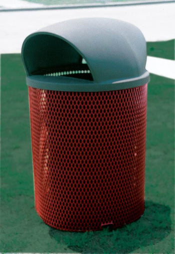 Trash Receptacle Steel Dome Lid And Liner 55 Gallon