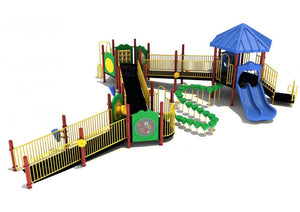 Charles Mound Fully Accessible Playground - 4.5 Inch Posts