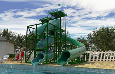 Commercial Water Slide 302 4x8