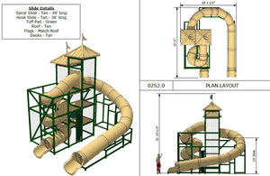 Commercial Water Slide 302 (4 x 8)
