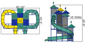 Commercial Water Slide 305 | WillyGoat Playground & Park Equipment