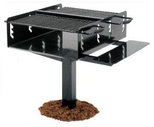 Bi-Level Group Grill With Shelf - 1008 Sq Inch