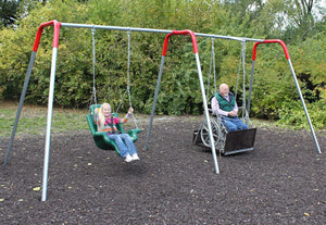Heavy Duty Accessible Swing Platform - Seat and Platform