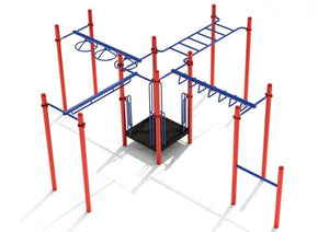 White Plains Fitness Course Playground - 3.5 Inch Posts