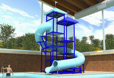 Commercial Water Slide 205 4x8