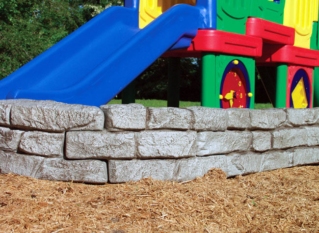 Faux Stone Playground Border Timbers
