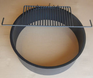 Heavy Duty Fire Ring With Grate 8 Inch High