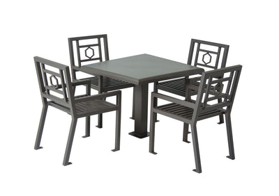 "36"" Square Huntington Table with 4 Chairs 
