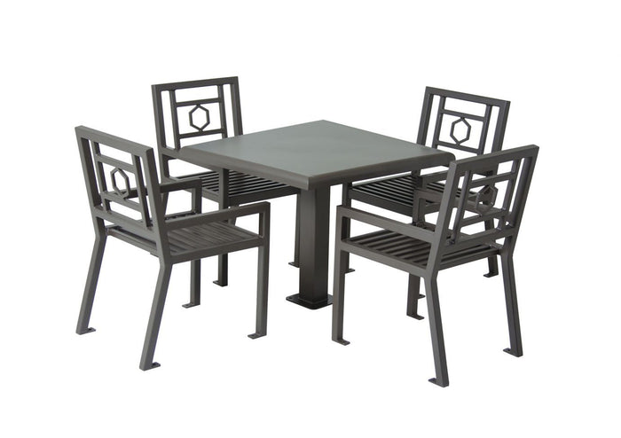 "Huntington Table with 4 Chairs - 36"" Square"