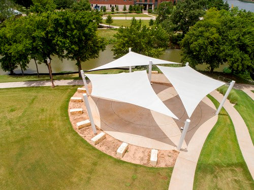 4 Point Hypar Sail Shade Structure