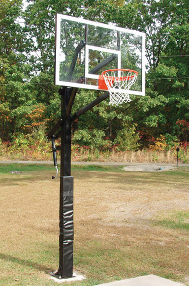Adjustable Acrylic Basketball Goal And Post