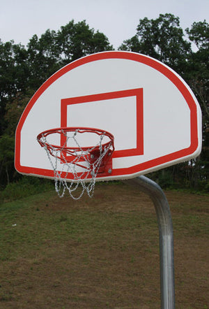 Heavy Duty Basketball Goal And 4.5 Inch Post - Aluminum Fan