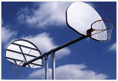 Double Basketball Goal with Aluminum Fan Backboard