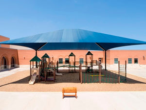Superspan Hip Roof Shade Structure | WillyGoat Parks and Playgrounds