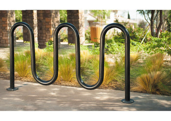 Contemporary Loop Bicycle Rack - Five Loop
