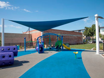3 Point Sail Shade Structure | WillyGoat Playground & Park Equipment