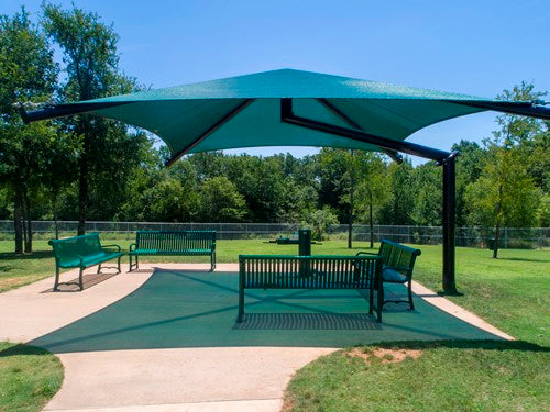 Single Post Pyramid Cantilever Shade Structure