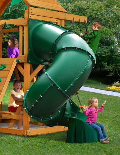 Extreme Turbo Tube Slide 5 Foot High Deck - Green