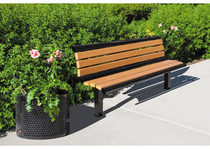 Richmond Recycled Bench with Back | WillyGoat Playground & Park Equipment