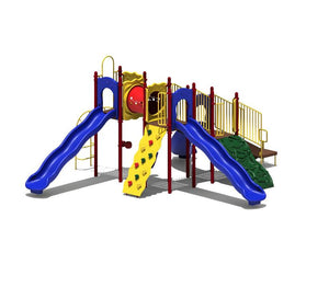 Boulder Point Playsystem | Playground Equipment with Slide & Climbing Wall