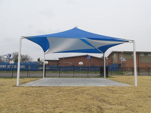 Mariner Pyramid Shade Structure with 4 Posts | WillyGoat Parks and Playgrounds