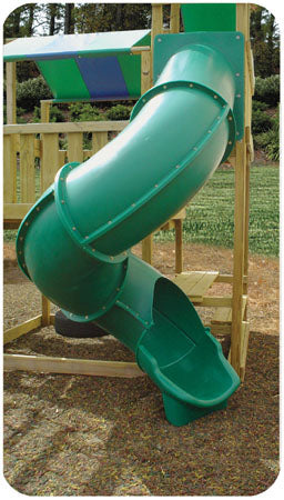 Super Heavy Duty Turbo Tube Slide 7 Foot High Deck