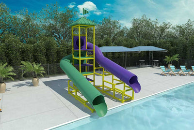 Mississippi River Commercial Water Slide