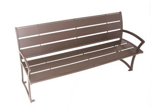 Madison Bench with Back - Powder Coated Steel | WillyGoat Playground & Park Equipment
