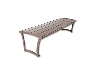 Madison Bench without Back - Powder Coated Steel | WillyGoat Playground & Park Equipment